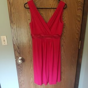 Apple red David's bridal bridesmaid dress
